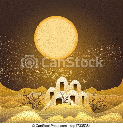 Sand storm - csp17335384