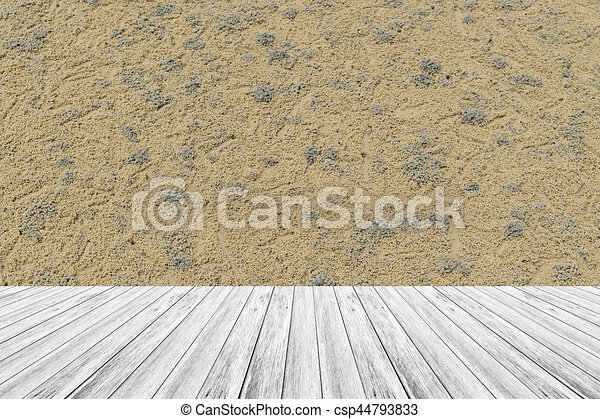 Sand Texture Surface With Wood Terrace   Csp44793833