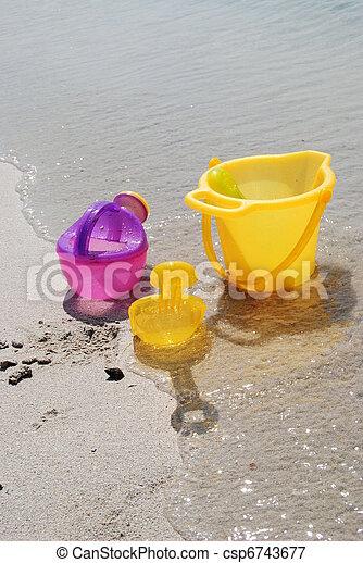 sand toys - csp6743677