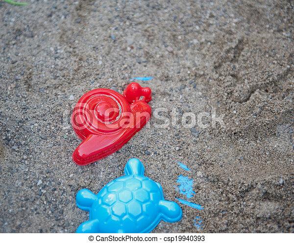 Sand toys - csp19940393