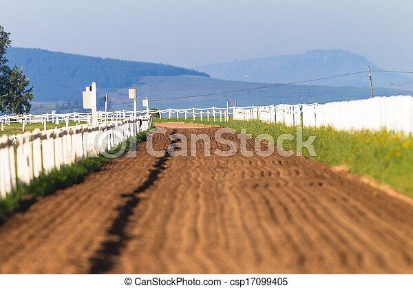 Sand Track Race Horses Training - csp17099405