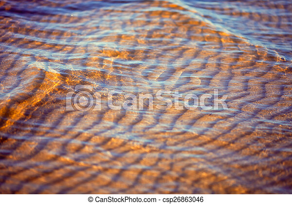 Sand under the clear water of the sea - csp26863046