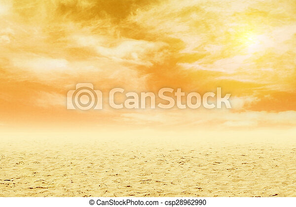 sand with sky at sunset - csp28962990
