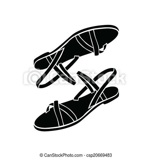 Graphiques Clipart Vecteurs de Sandales. 15 372