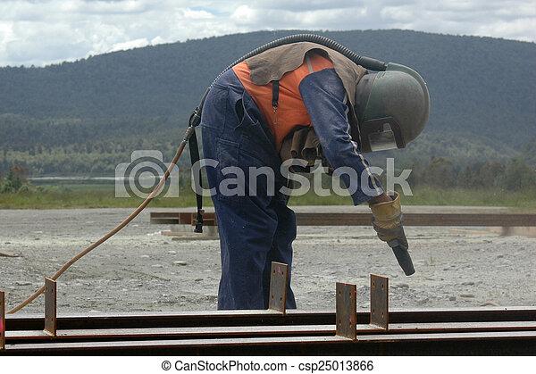 sandblaster at work - csp25013866
