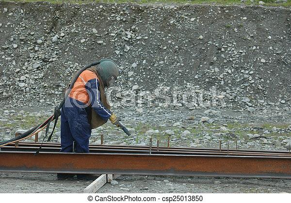 sandblaster at work - csp25013850