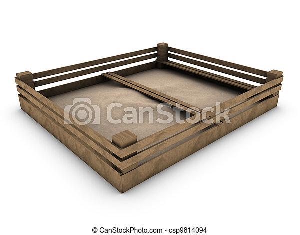 sandbox isolated on white - csp9814094