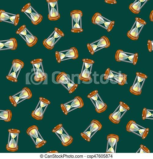 Sandclock Seamless Pattern - csp47605874