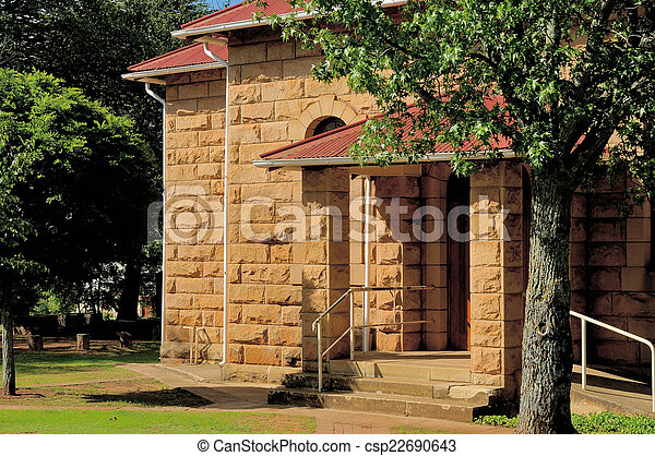 Sandstone church, Clarens, South Africa - csp22690643