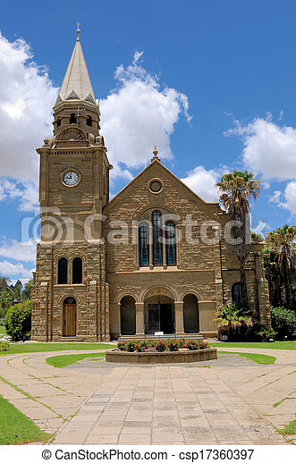 Sandstone church, Clarens, South Africa - csp17360397