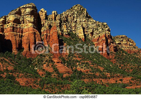 sandstone red scenic nature landscape, usa - csp9854687