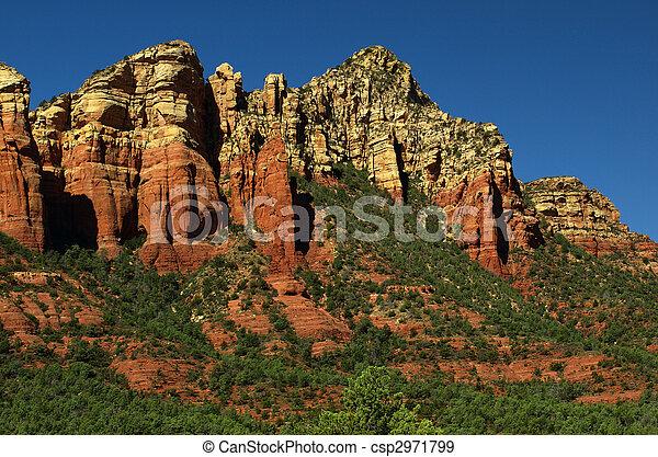 sandstone red scenic nature landscape, usa - csp2971799