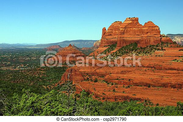 sandstone red scenic nature landscape, usa - csp2971790