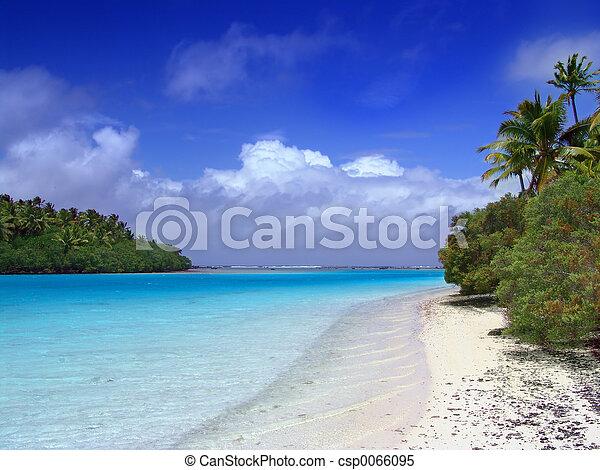 sandstrand, lagune - csp0066095