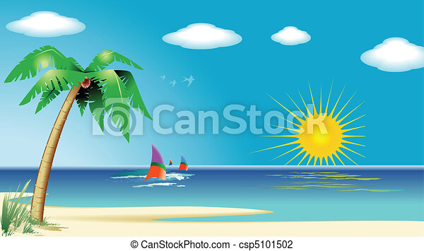 Strandlandschaft - csp5101502