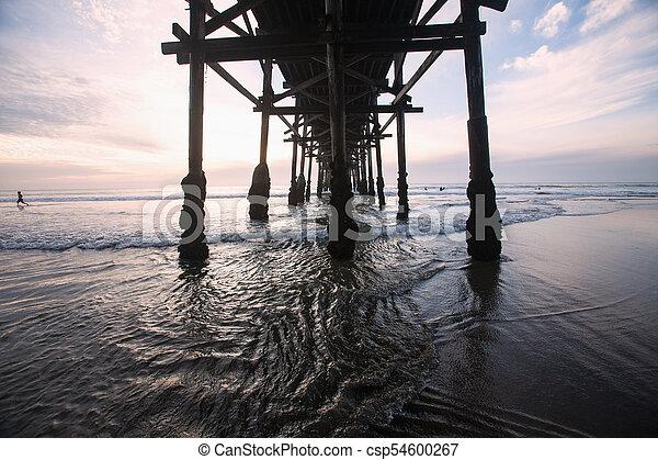 Der Sonnenuntergang am Pazifik - csp54600267