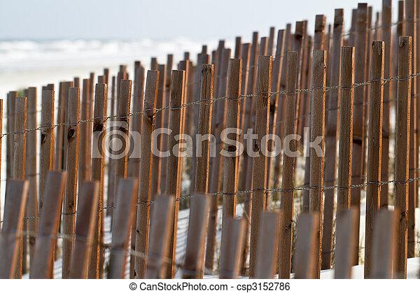 Sandstrand Zaun Schatten Zaun Erhohen Effekt Sonnenlicht