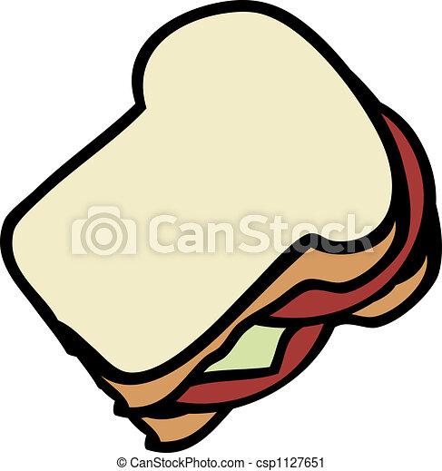sandwich cartoon food illustration of a sandwich white bread https www canstockphoto com sandwich 1127651 html