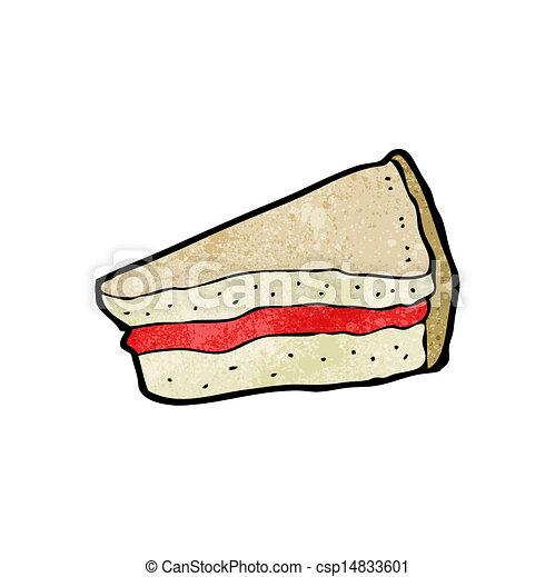 sandwich, dessin animé - csp14833601