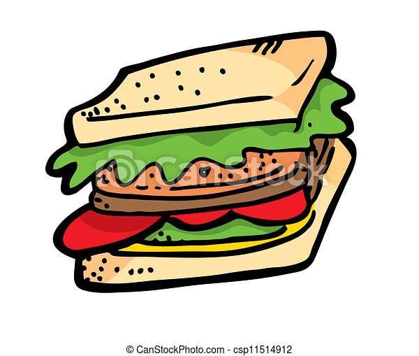 sandwich doodle vector clip art search illustration drawings and rh canstockphoto com sub sandwich clipart free sub sandwich clip art images