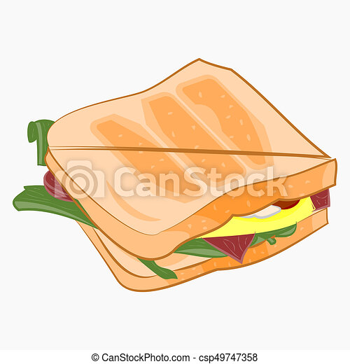 Ham And Cheese Sandwich Clipart