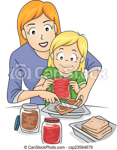 sandwich making lessons illustration featuring a mother vectors rh canstockphoto com making clipart transparent in word making clipart in illustrator
