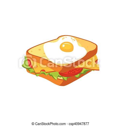 Sandwich Nourriture Isolé élément Petit Déjeuner Icône