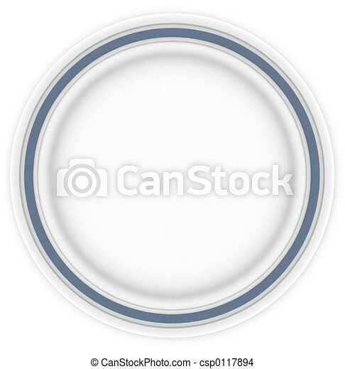 Sandwich Plate with Blue - csp0117894