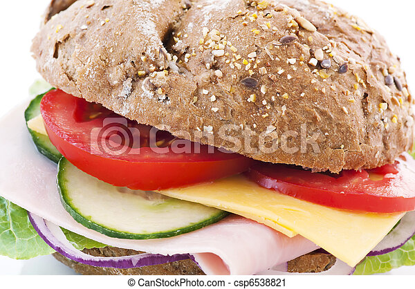 Sandwich with Cheese and Ham - csp6538821