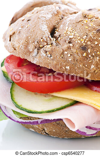 Sandwich with Cheese and Ham - csp6540277