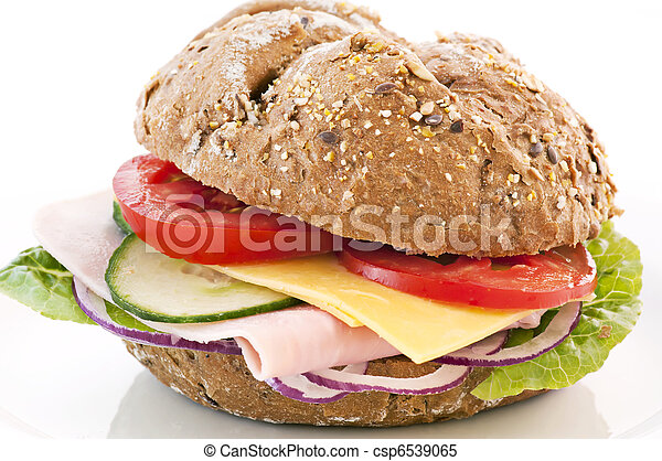 Sandwich with Cheese and Ham - csp6539065