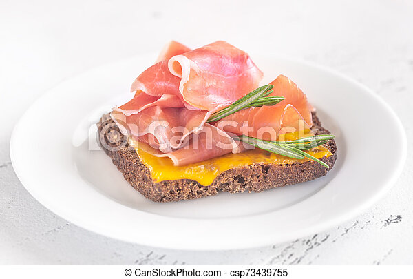 Sandwich with cheese and ham - csp73439755