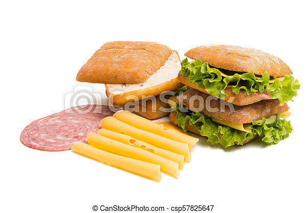 sandwich with cheese and ham - csp57825647