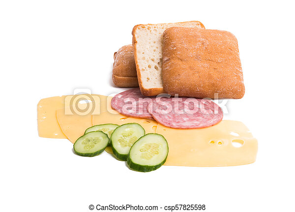 sandwich with cheese and ham - csp57825598