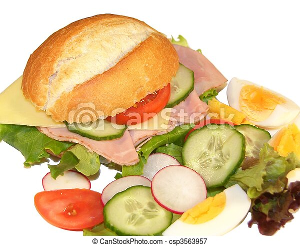 Sandwich with Ham and Cheese - csp3563957