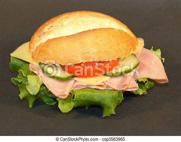 Sandwich with Ham and Cheese - csp3563965