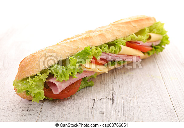 sandwich with ham and cheese - csp63766051