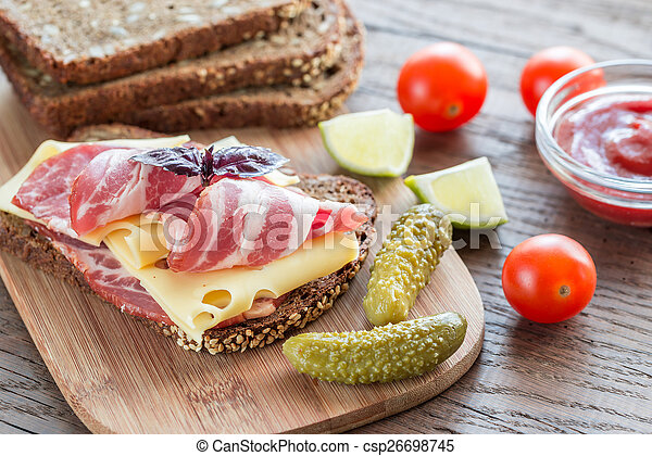 Sandwich with ham and cheese - csp26698745
