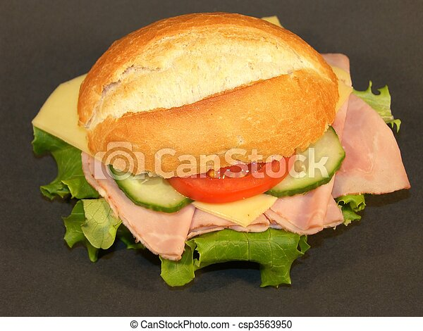 Sandwich with Ham and Cheese - csp3563950