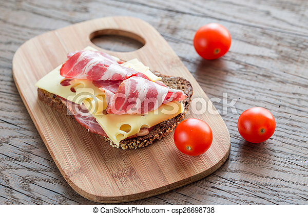 Sandwich with ham and cheese - csp26698738