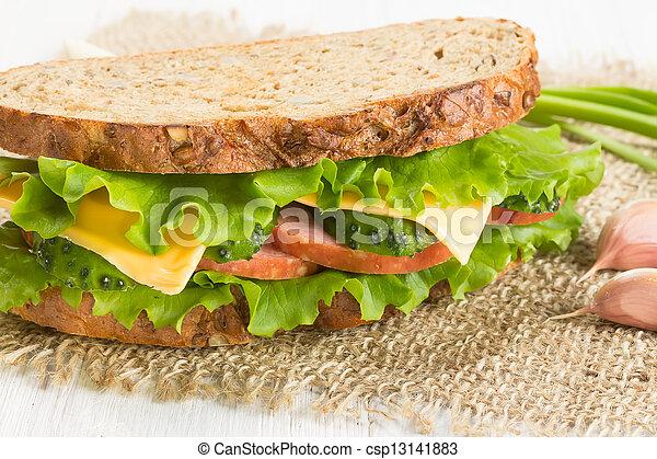 Sandwich with ham - csp13141883