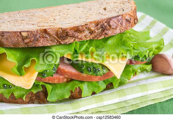 Sandwich with ham - csp12583460