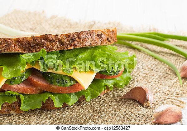 Sandwich with ham - csp12583427
