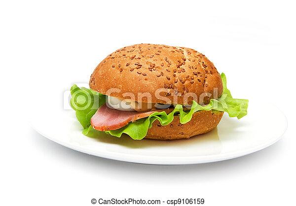 sandwich with ham - csp9106159