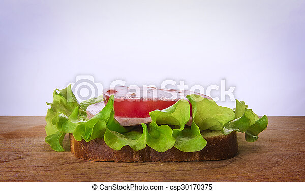 sandwich with tomato cheese and ham - csp30170375