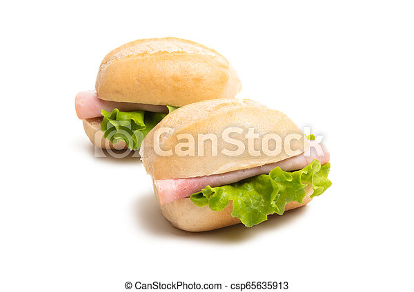 sandwiches isolated - csp65635913