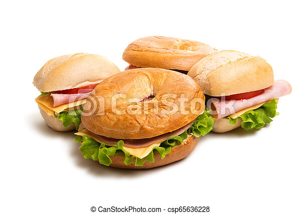 sandwiches isolated - csp65636228