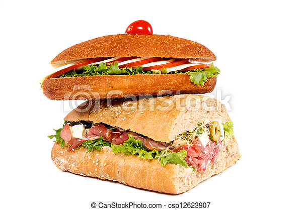 Sandwiches isolated - csp12623907