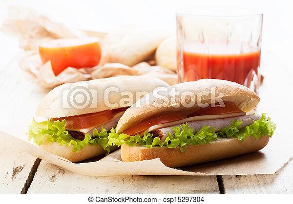 Sandwiches on paper - csp15297304