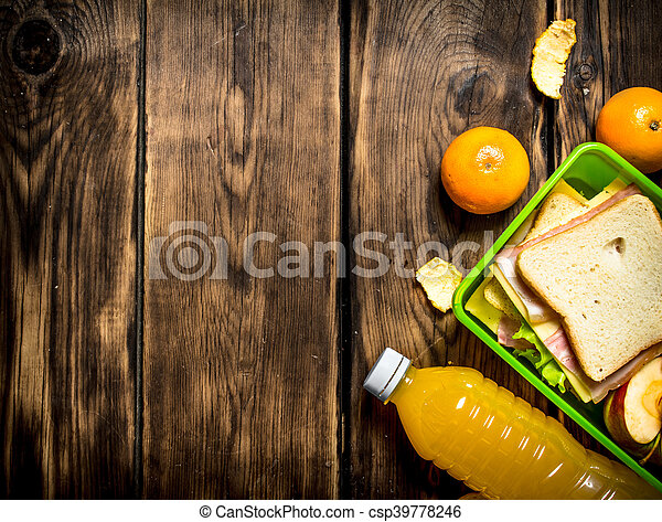 Sandwiches with cheese and bacon, - csp39778246